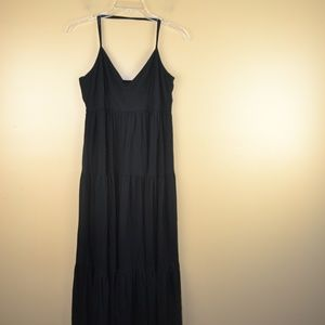 Gap Women's Black Halter Maxi Dress Size Medium